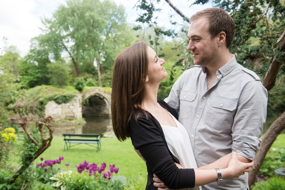 Warwick The Mill Garden prewedding engagement shoot portrait session byGarazi wedding photographer